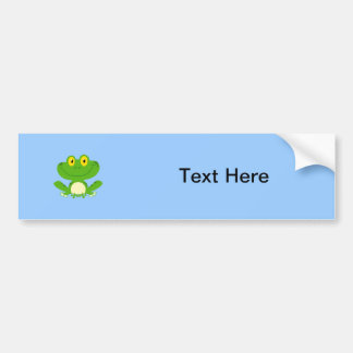Animal lindo verde anfibio del dibujo animado de l pegatina de parachoque