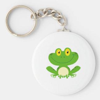 Animal lindo verde anfibio del dibujo animado de l llavero