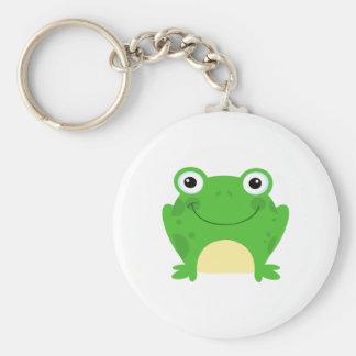 Animal lindo verde anfibio del dibujo animado de l llavero personalizado