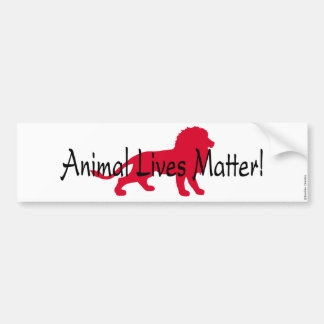 """Animal Lives Matter"" Red Lion Bumper Sticker"