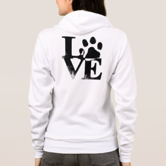 Animal Love Paw Print Hoodie