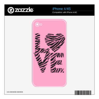 Animal Love Skin For iPhone 4S