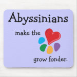 Animal Lover_Abyssinians make the heart mousepad