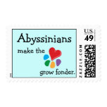 Animal Lover_Abyssinians make the heart postage