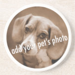 Animal Lover_Add Your pet's photo template Drink Coaster