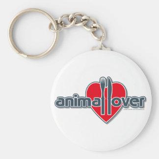 Animal Lover Basic Round Button Keychain