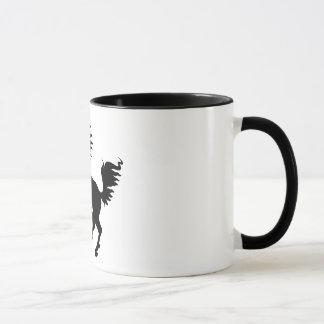Animal Lover | Black Horse Rearing Mug