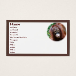 Animal Lover Business Card
