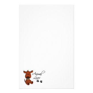 Animal Lover-Cartoon Dog and paw prints Stationery