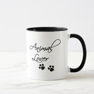 Animal Lover-Cute Puppy with Dog-bowl Mug