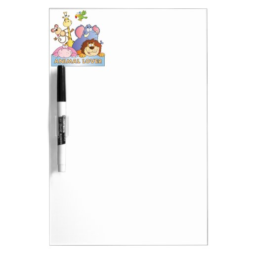 Animal Lover Dry Erase White Board