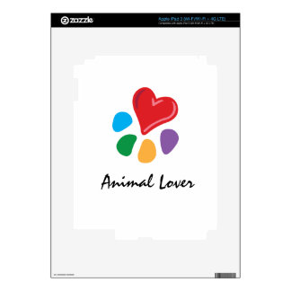 Animal Lover_Heart-Paw Decals For iPad 3