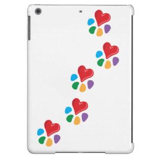 Animal Lover_Heart-Paw (footprints) iPad Air Case