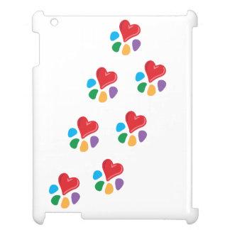 Animal Lover_Heart-Paw_footprints iPad Covers