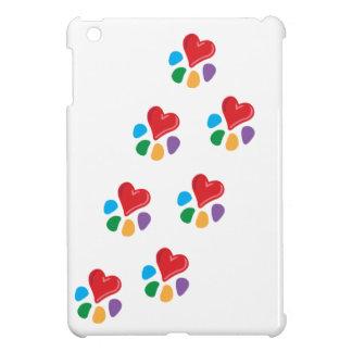 Animal Lover_Heart-Paw_footprints iPad Mini Cover