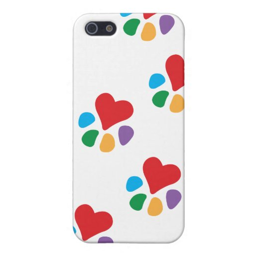 Animal Lover_Heart-Paw (footprints) iPhone 5 Case