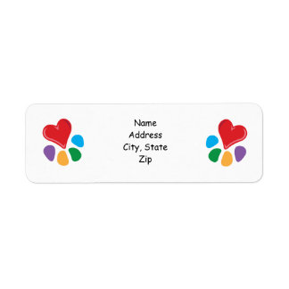 Animal Lover_Heart-Paw Return Address Labels