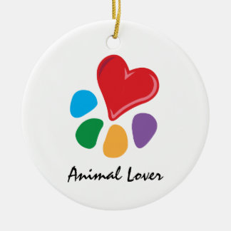 Animal Lover_Heart-Paw necklace Christmas Tree Ornament