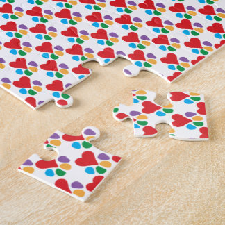 Animal Lover_Heart-Paw pattern Jigsaw Puzzle