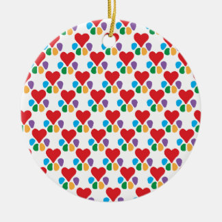 Animal Lover_Heart-Paw (pattern) Christmas Tree Ornament