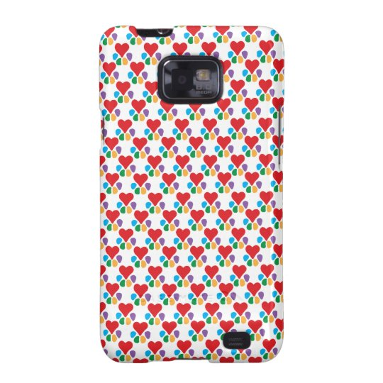 Animal Lover_Heart-Paw (pattern) Samsung Galaxy S2 Case