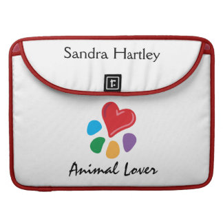 Animal Lover_Heart-Paw personalized MacBook Pro Sleeve