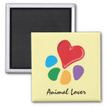 Animal Lover_Heart-Paw Refrigerator Magnet