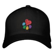Animal Lover_Heart-Paw (w/ highlights) Embroidered Baseball Hat