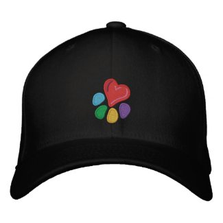 Animal Lover_Heart-Paw (w/ highlights) embroideredhat