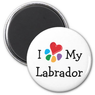 Animal Lover_I Heart Labradors Magnet