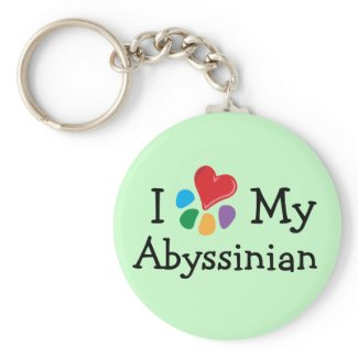 Animal Lover_I Heart My Abyssinian keychain