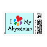 Animal Lover_I Heart My Abyssinian postage