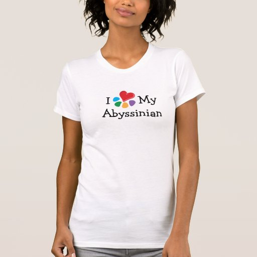 Animal Lover_I Heart My Abyssinian Tee Shirts