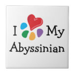 Animal Lover_I Heart My Abyssinian Tile