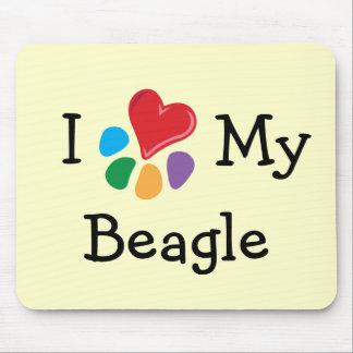 Animal Lover_I Heart My Beagle Mouse Pad