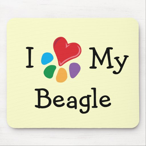 Animal Lover_I Heart My Beagle Mouse Mats