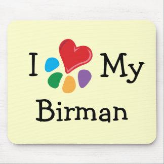 Animal Lover_I Heart My Birman Mouse Pad