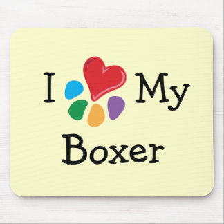 Animal Lover_I Heart My Boxer Mouse Pad