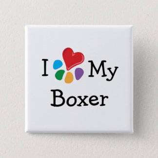 Animal Lover_I Heart My Boxer Pinback Button