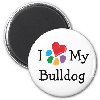 Animal Lover_I Heart My Bulldog Magnet