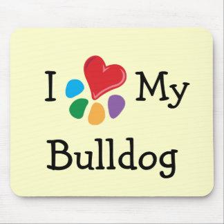 Animal Lover_I Heart My Bulldog Mouse Pad