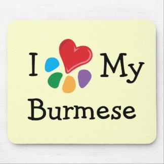 Animal Lover_I Heart My Burmese Mouse Pad