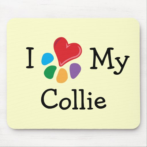 Animal Lover_I Heart My Collie Mouse Pad