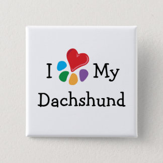 Animal Lover_I Heart My Dachshund Button