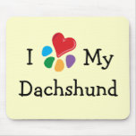 Animal Lover_I Heart My Dachshund Mouse Pad