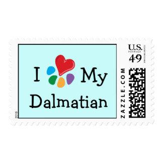 Animal Lover_I Heart My Dalmatian postage