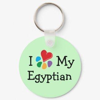 Animal Lover_I Heart My Egyptian keychain