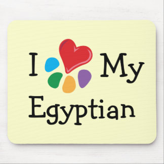 Animal Lover_I Heart My Egyptian Mouse Pad