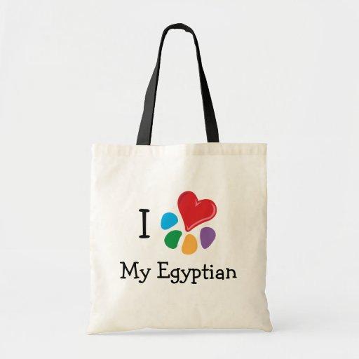 Animal Lover_I Heart My Egyptian v.2 Budget Tote Bag
