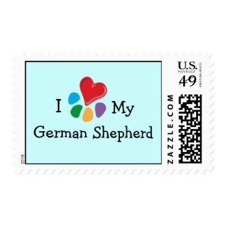 Animal Lover_I Heart My German Shepherd Postage